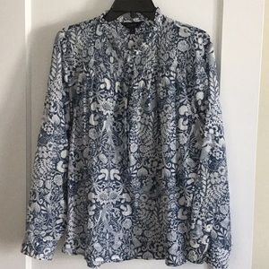 J Crew mermaid patter popover size 16 cotton